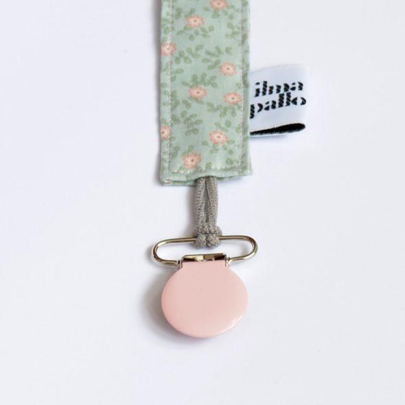 Schnullerband von ilma pallo in rosa-mint