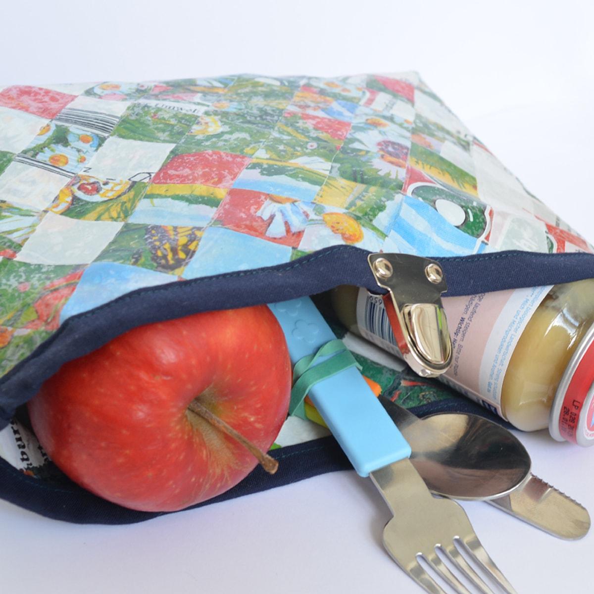 alte Plastiktüten aufarbeiten: LunchBag