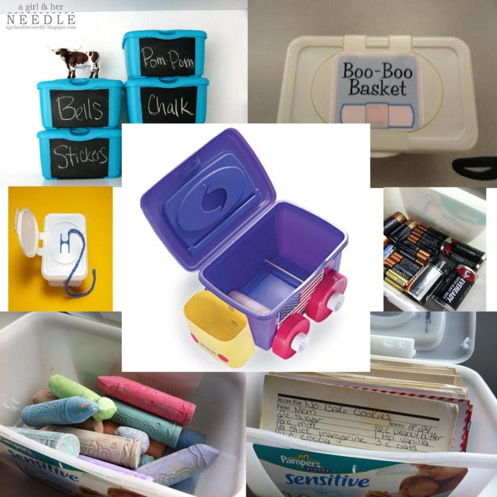 feuchttücherboxen umgestaltet mit tafelfarbe,zu einem Auto umfunktioniert,mit Kreide,Battereien,Rezepten gefüllt,als Wollaufbewahrung oder für Pflaster und Desinfektionsspray