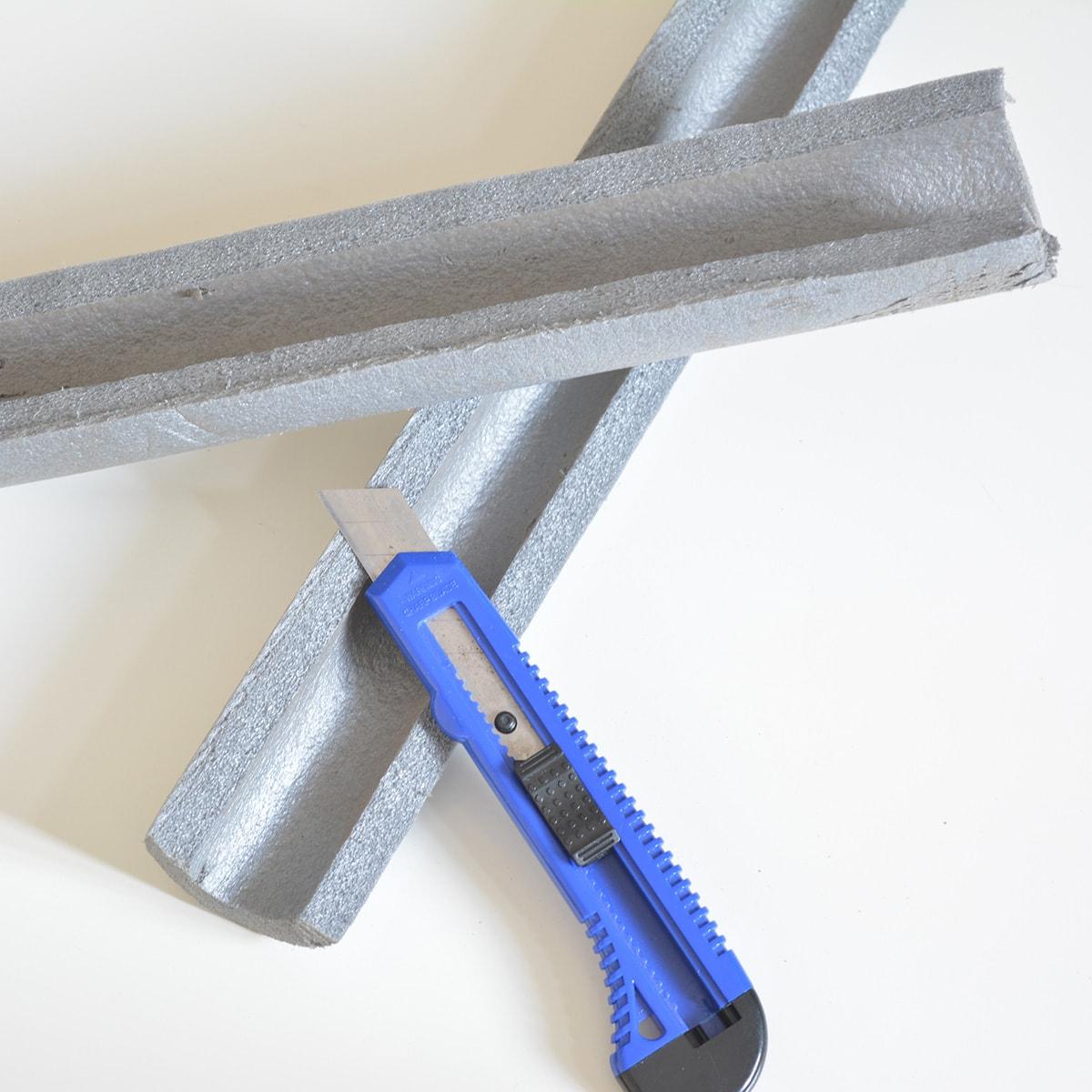 Murmelbahn bauen - Isolierschlauch